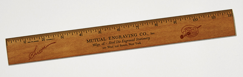 Seven color letterpress ruler from Russell Maret's forthcoming book, <em>Interstices & Intersections</em>.