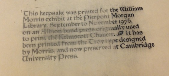 This fragment was discovered after removing the old packing on the tympan of the Kelmscot/Goudy Albion Press.